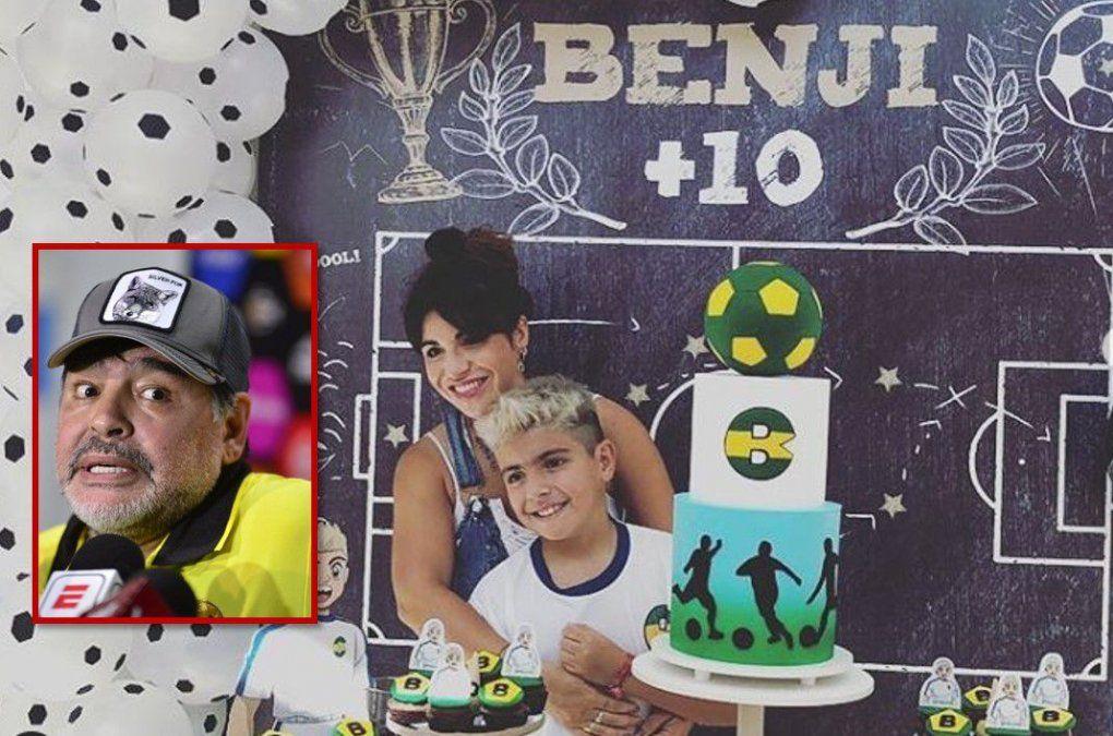 Todo mal: Diego Maradona se olvidó del cumple de su nieto y Gianinna Maradona lo trató de ridículo