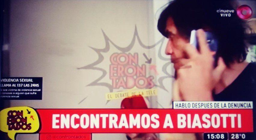 Video: la reacción de Biasotti cuando le preguntaron en cámara por la denuncia de abuso sexual de su hija