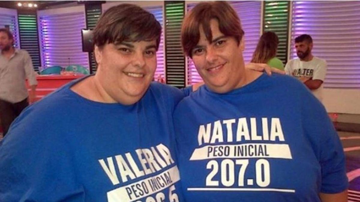 Valeria y Natalia García durante Cuestión de Peso.