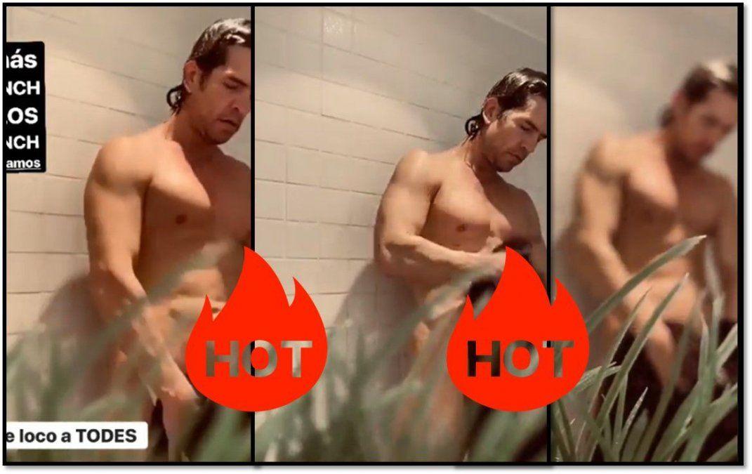 Muscari publicó un video de Diego Ramos desnudo para acompañar la cuarentena
