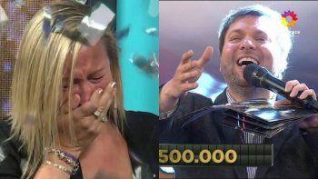 Una participante quebró en llanto en Bienvenidos a bordo al ganarse medio millón de pesos