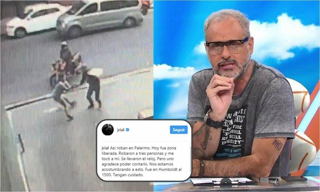 El descargo de Rial contando el robo callejero que sufrió: Palermo es zona liberada