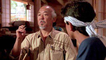 Pat Morita se hizo celebre por su personaje del Señor Miyagi