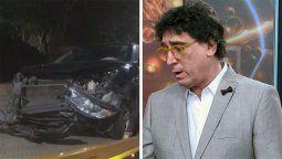 Imágenes del auto de Oscar Mediavilla, luego del accidente que sufrió