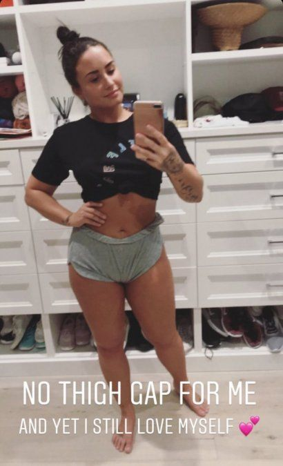 ¡Orgullosa! Demi Lovato: Mis estrías no van a desaparecer