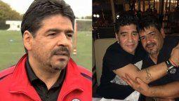 El hermano de Diego, Hugo Maradona se lamentó porque no tuvo el tiempo suficiente para poder viajar y despedirlo.