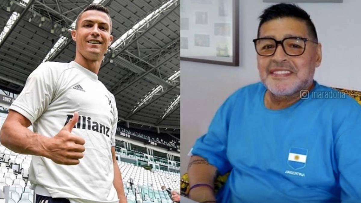 ¡Osado! Cristiano Ronaldo y su hilarante felicitación a Diego Maradona