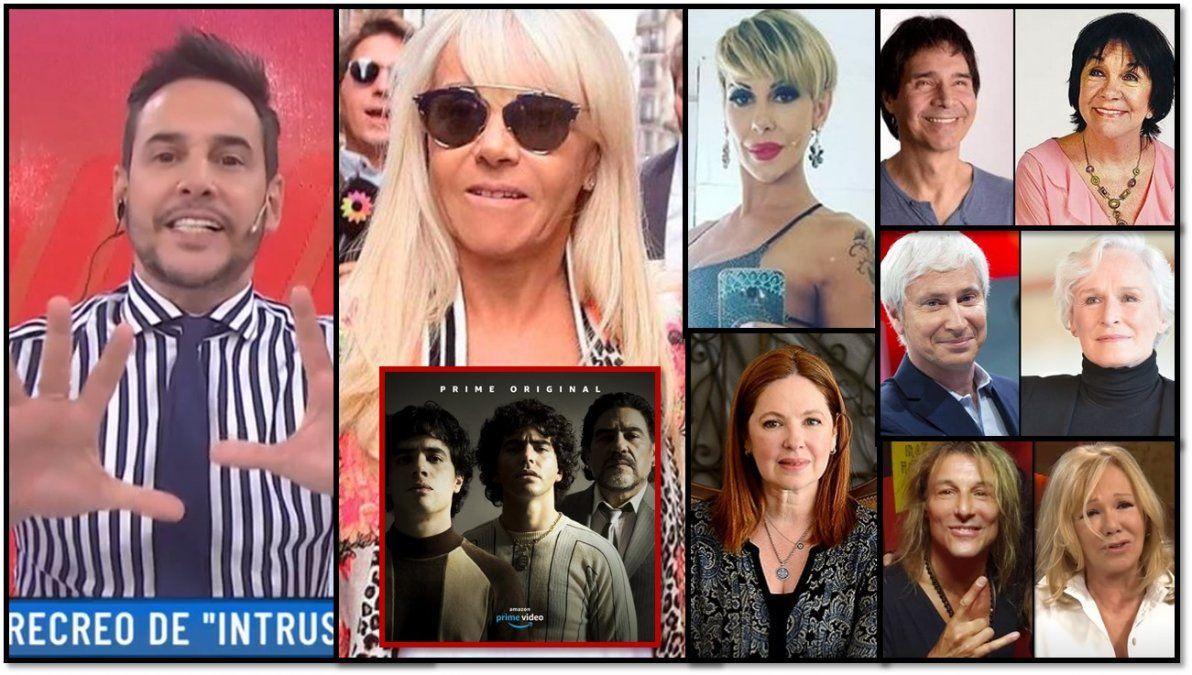 Claudia Villafañe busca parar la serie de Maradona; una vedette en crisis; una actriz enamorada; y mas fotos de famosos viejas