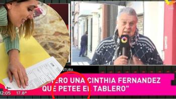 Cinthia Fernández anunció su pre candidatura, Luis Ventura la felicitó y el graph se equivocó