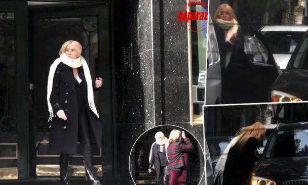 Esta es la foto que capto Paparazzi donde se la ve a Mecha sin tapaboca y rompiendo la cuarentena