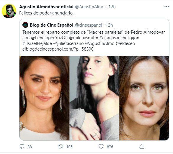 A través de la cuenta twitter de Agustín