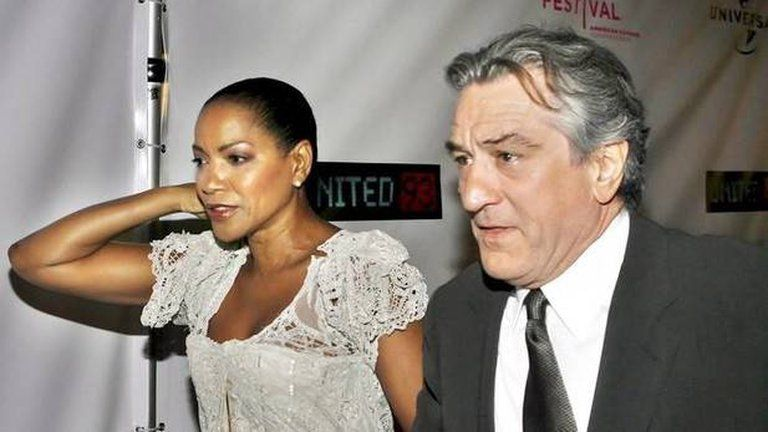 El actor Robert De Niro Junto a su ex esposa Grace Hightower
