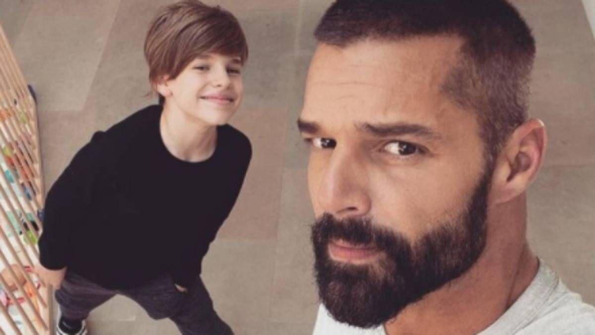 ¿Igualitos? Ricky Martin muestra a uno de sus hijos