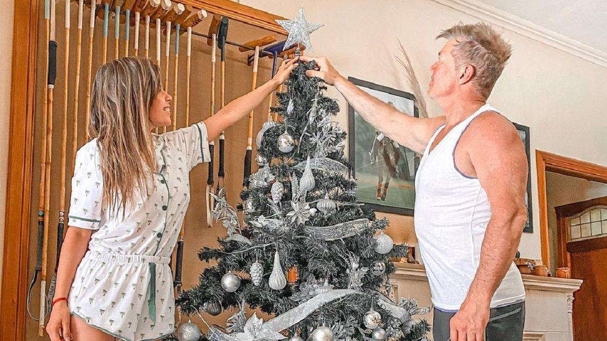 Barby Franco y Fernando Burlando pusieron el arbolito de navidad
