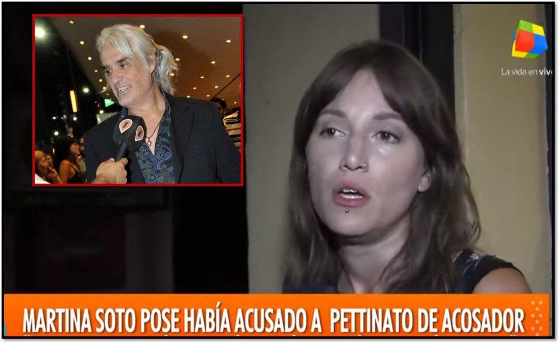 Martina Soto Pose no se achica contra Pettinato: Lo llamó abusador y pide una condena social