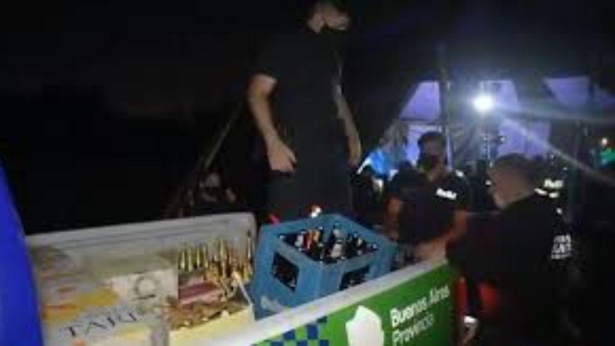 Autoridades acabaron una fiesta clandestina de 1200 invitados en Lomas de Zamora