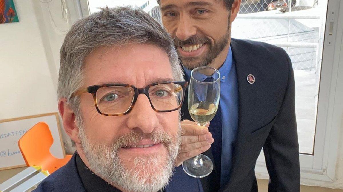 Luis Novaresio junto a su pareja Braulio Bauab