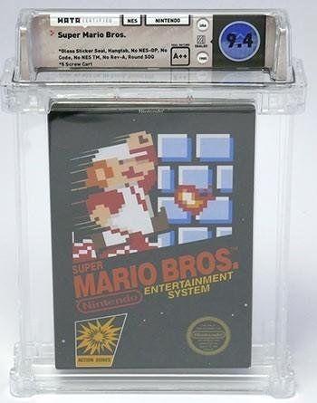 Imagen del cartucho original de Super Mario Bros de Nintendo
