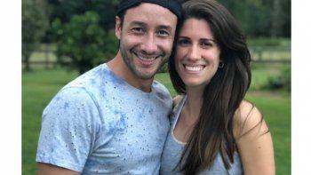 Luciano Pereyra y su novia