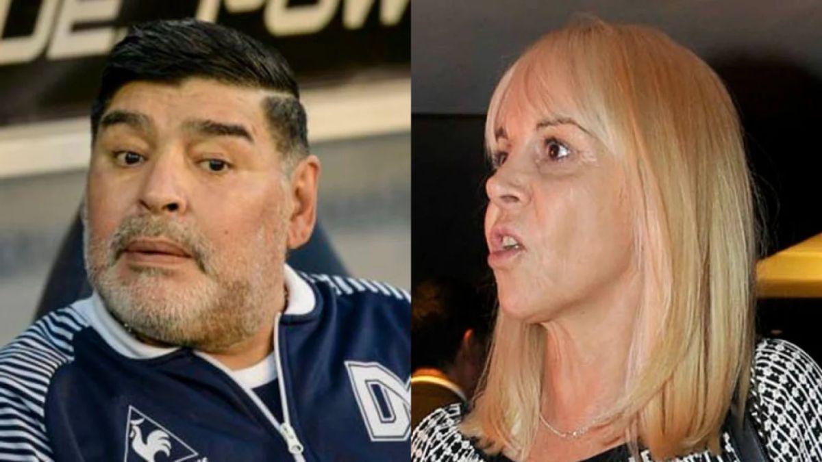 ¡A los gritos! Así fue la última conversación entre Diego Maradona y Claudia Villafañe