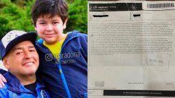 La intención detrás de la carta documento enviada a Dieguito Fernando