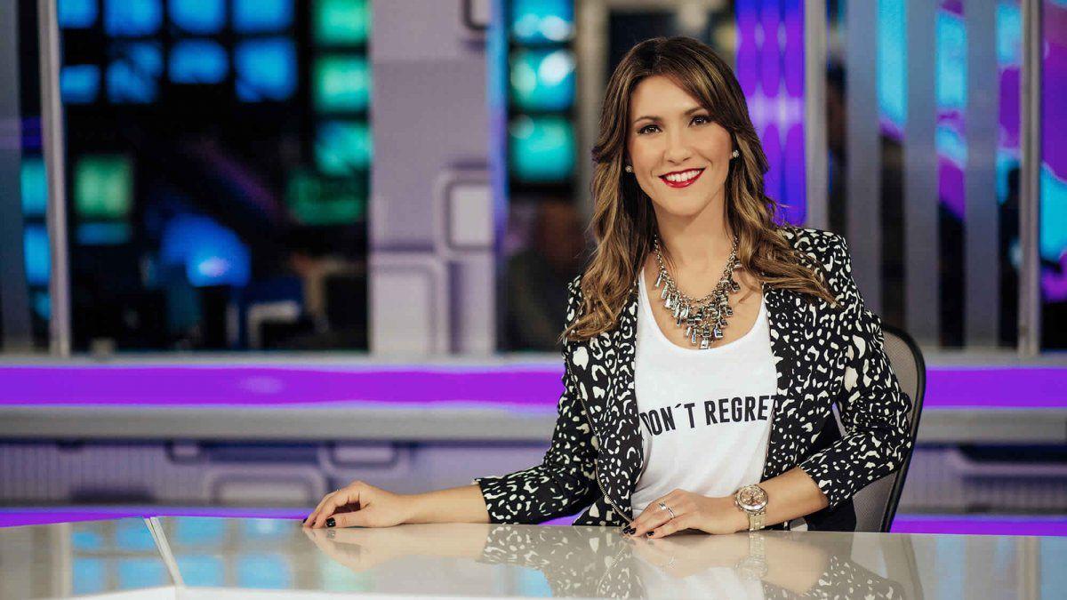 La periodista de espectáculos Fernanda Arenas