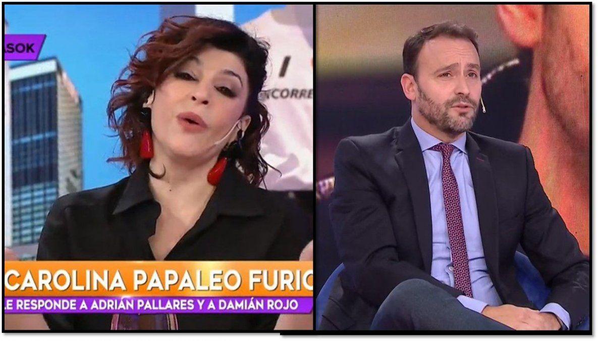 Carolina Papaleo, por defender a Julieta Ortega, se peleó con Adrián Pallares