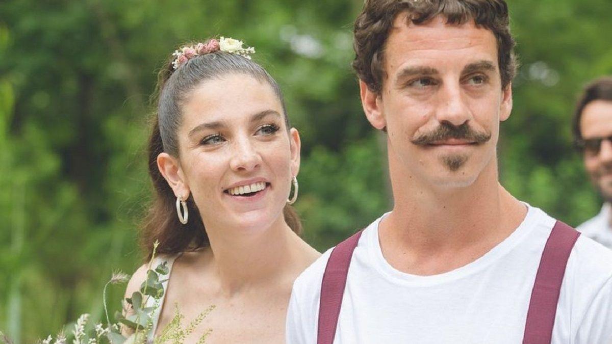 Juana Repetto y Sebastián Graviotto siguen felices por su matrimonio