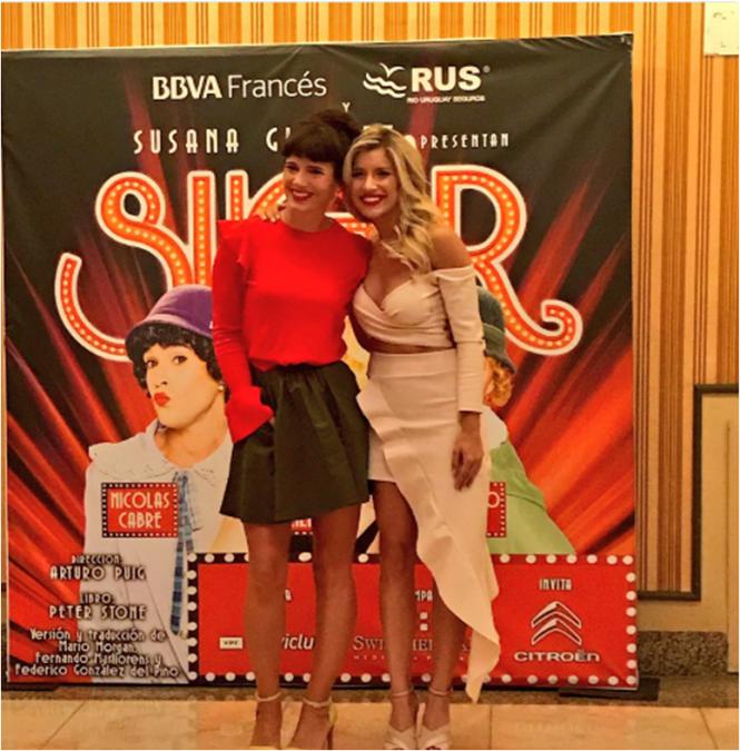 Laurita Fernández fue a ver Sugar: la cálida bienvenida de Girselda Siciliani
