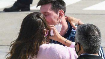 Romántico reencuentro de Messi y Antonella Roccuzzo