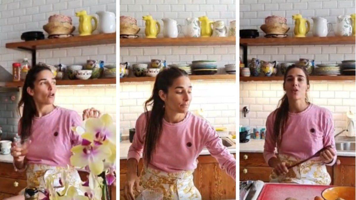 Juana Viale adora cocinar