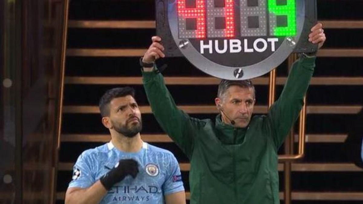 El Kun Agüero protagonizó un divertido bloopers en al partido del Manchester City y el PSG