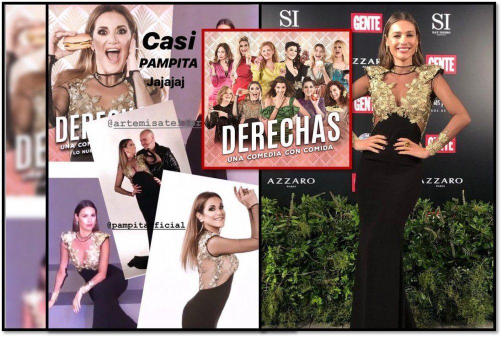 Papelón: Pampita engañada por su diseñador lució un vestido que anteriormente había usado Fernanda Callejón