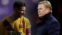 Ronald Koeman hizo un comentario acerca de Lionel Messi
