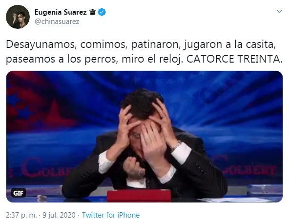 Twitter de Eugenia Suárez