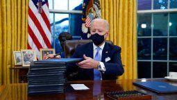 Joe Biden en el despacho que hasta hace unos días ocupaba Donald Trump