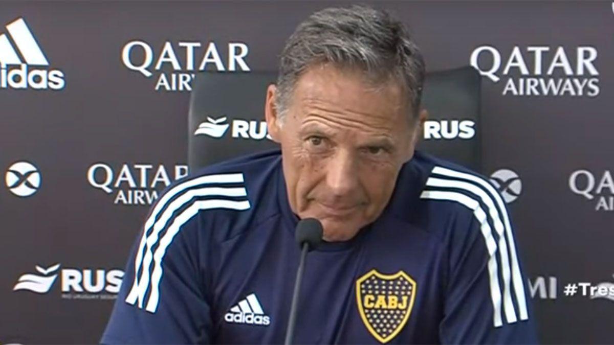 El entrenador de Boca Juniors Miguel Russo se mostró decepcionado con el Inter de Brasil