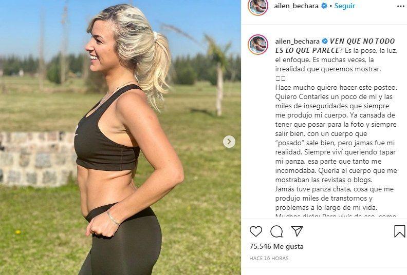 Ailén Bachara en Instagram