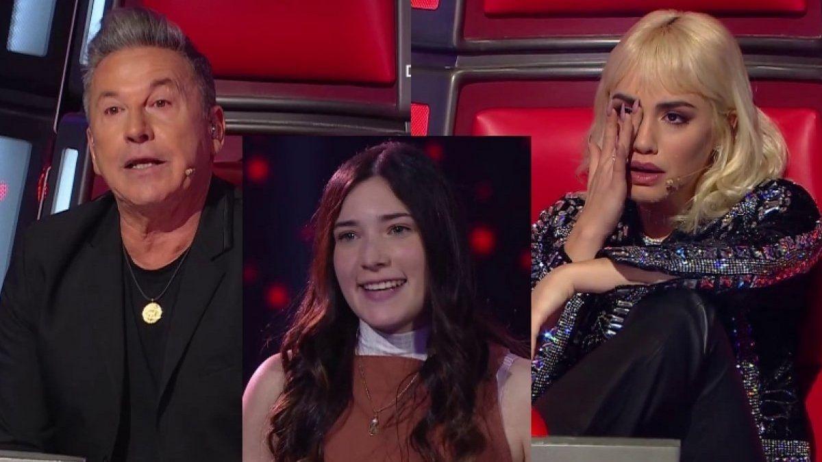 Lali Espósito se quebró en La Voz tras la devolución de Montaner a una participante