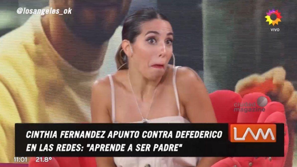 Cinthia Fernández aseguró que la Justicia embargará a Matías Defederico por no pagarle