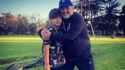 Maradona dejó de lado el conflicto familiar y posteó un emotivo mensaje para su nieto