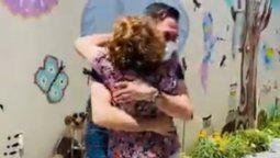 La emoción de Rodolfo Barili al reencontrarse con su madre