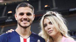 El mensaje de Wanda Nara a Mauro Icardi tras la derrota del PSG
