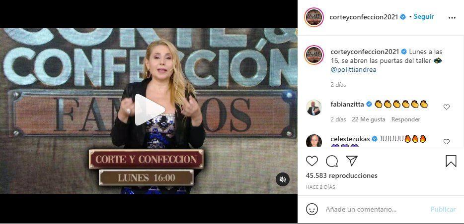 A través de las redes sociales Corte y confección se anunció el estreno de la edición famosos