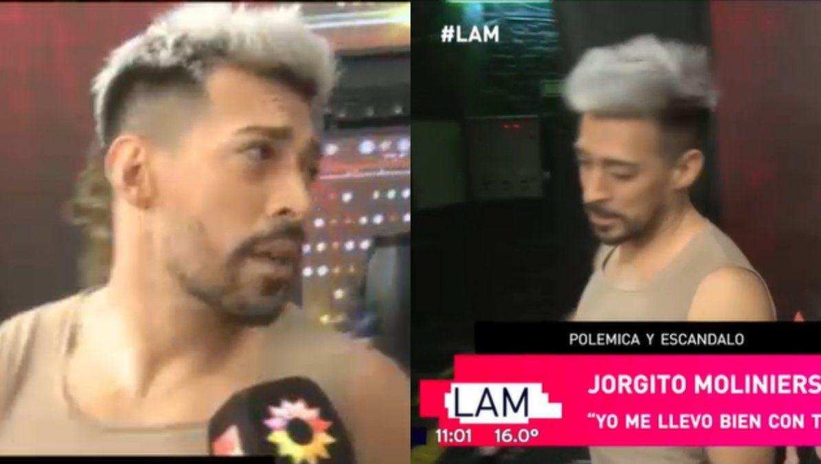 Jorgito Moliniers abandonó en vivo una nota de LAM