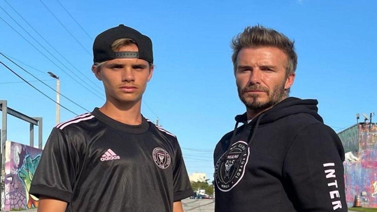 Romeo junto a su padre