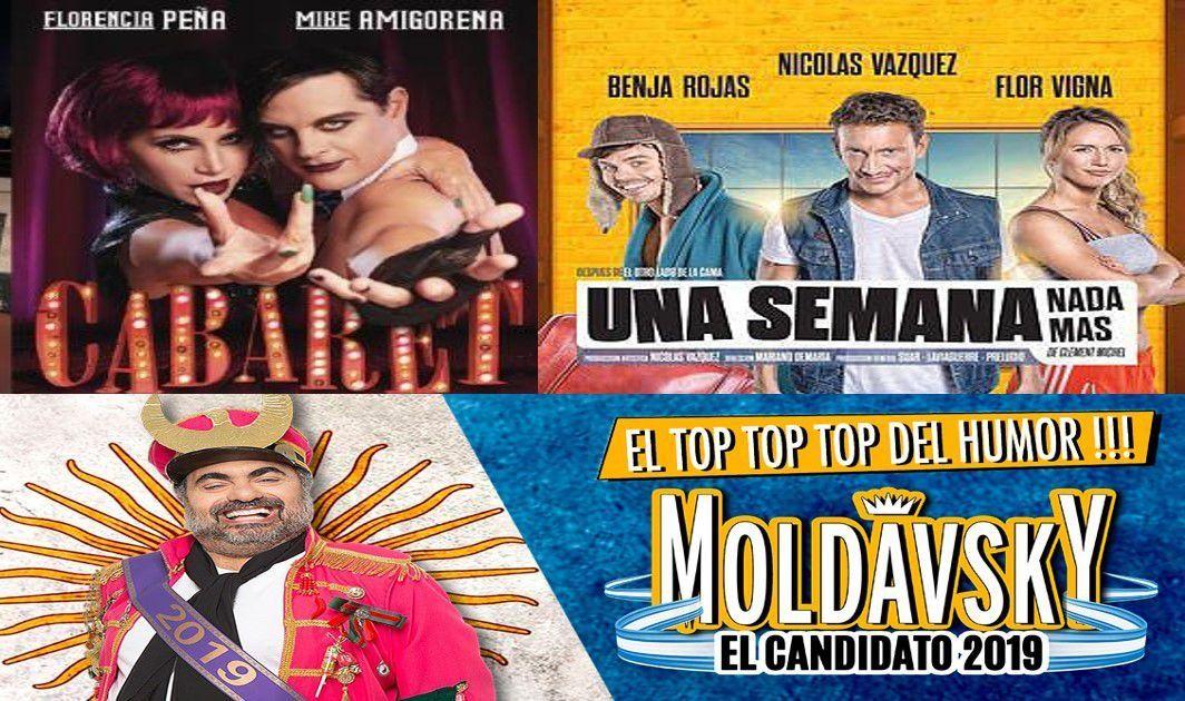 Una semana nada más, Moldavsky y Cabaret, lo más visto en teatro