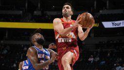 Facundo Campazzo logró anoche igual un récord de los Denver Nuggets el equipo de la NBA