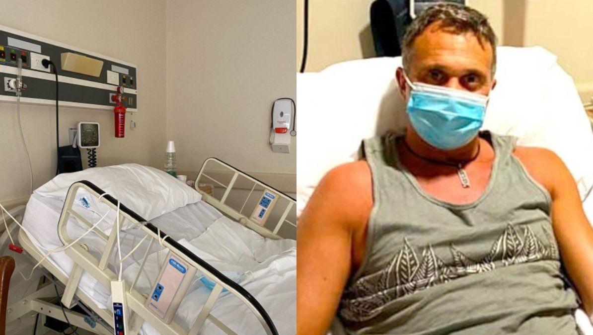 El estremecedor mensaje de Sergio Lapegüe desde el hospital: La fiebre alta se acostó en mi cama y aún permanece