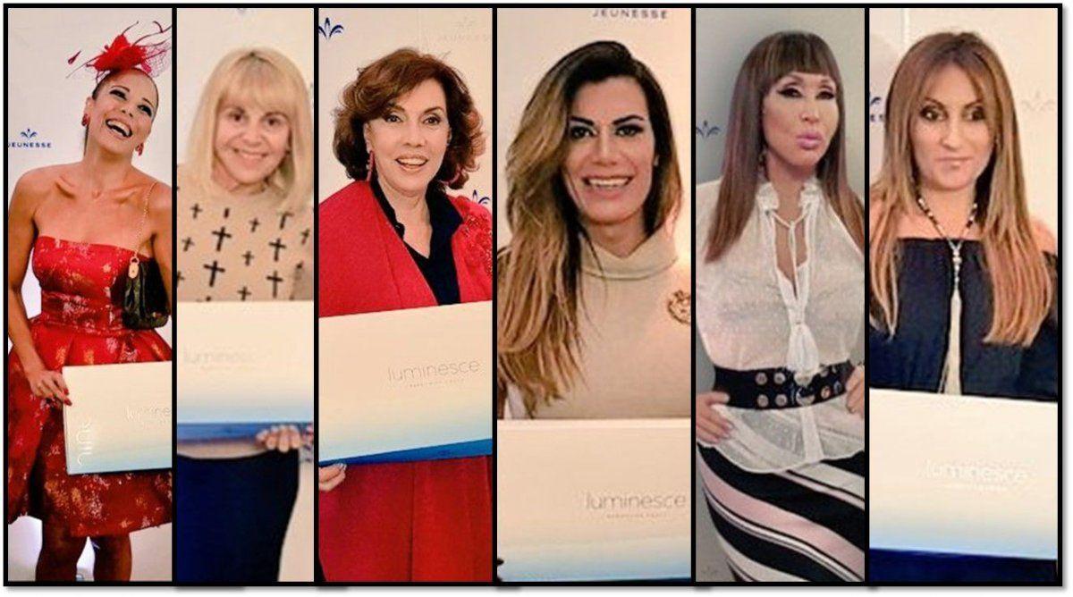 Moria Casán, Flor de la Ve, Claudia Villafañe y Nacha Guevara entre otras asisitieron al evento de Jeunesse